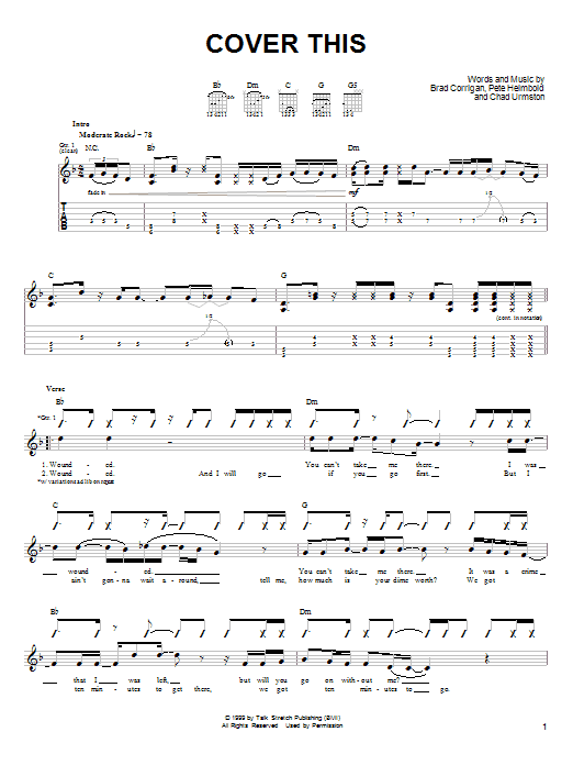 Cover This (Guitar Tab)