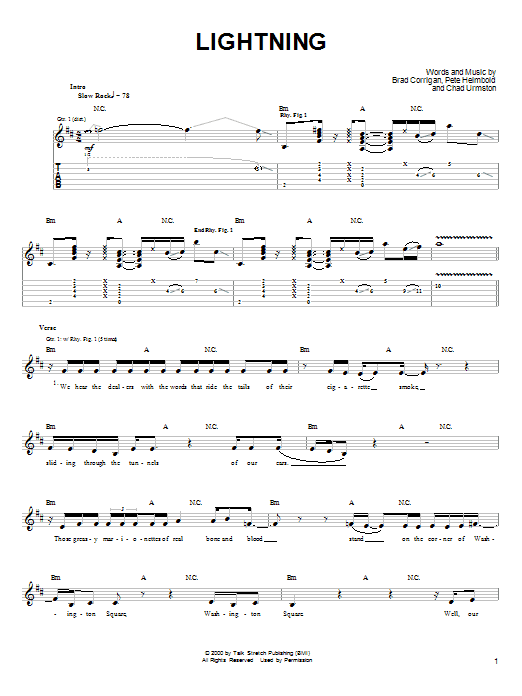 Lightning (Guitar Tab)
