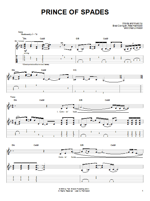 Prince Of Spades (Guitar Tab)