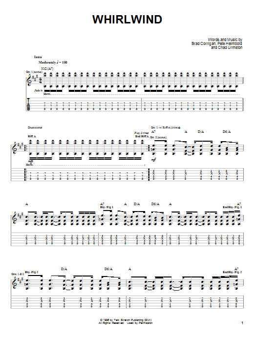 Tablature guitare Whirlwind de Dispatch - Tablature Guitare