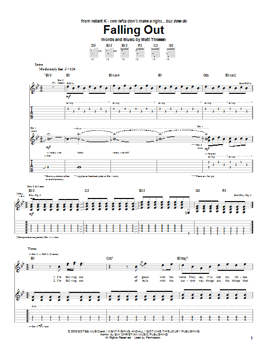 Falling Out (Guitar Tab)