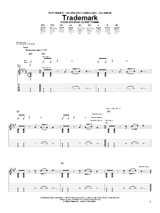 Trademark (Guitar Tab)