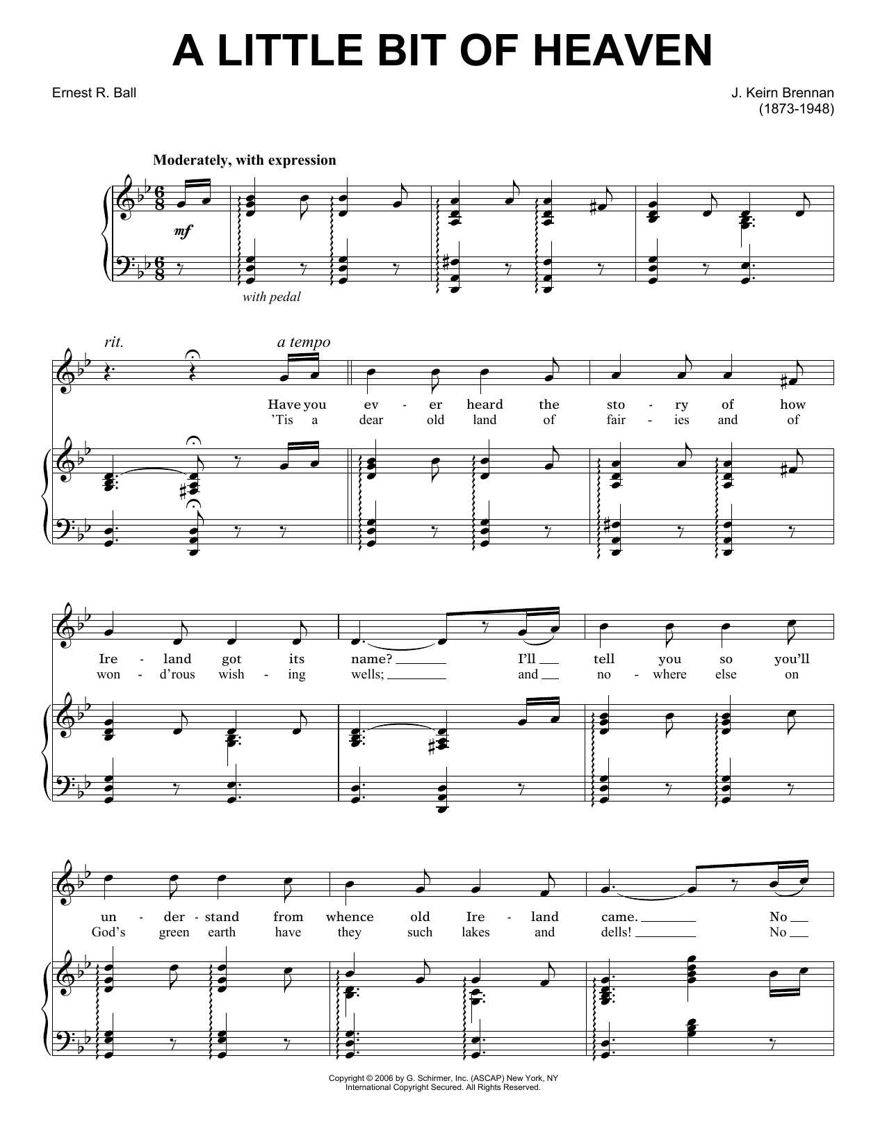A Little Bit Of Heaven Sheet Music