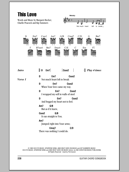 This Love (Guitar Chords/Lyrics)