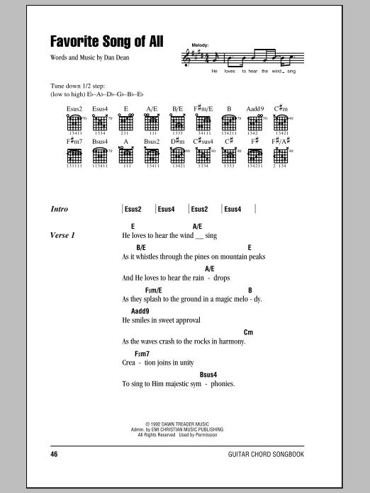 Favorite Song Of All (Guitar Chords/Lyrics)