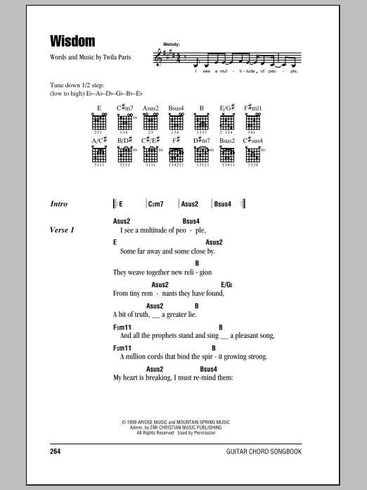 Wisdom (Guitar Chords/Lyrics)