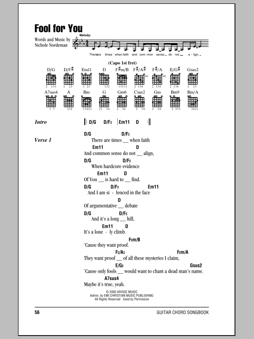 Fool For You Sheet Music
