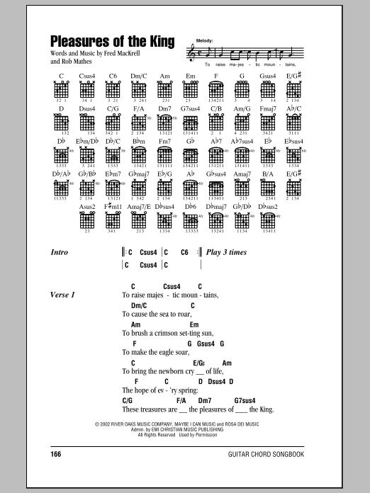 Pleasures Of The King (Guitar Chords/Lyrics)