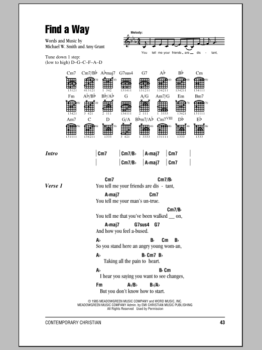 Find A Way (Guitar Chords/Lyrics)