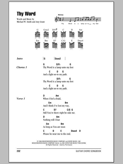 Thy Word Sheet Music