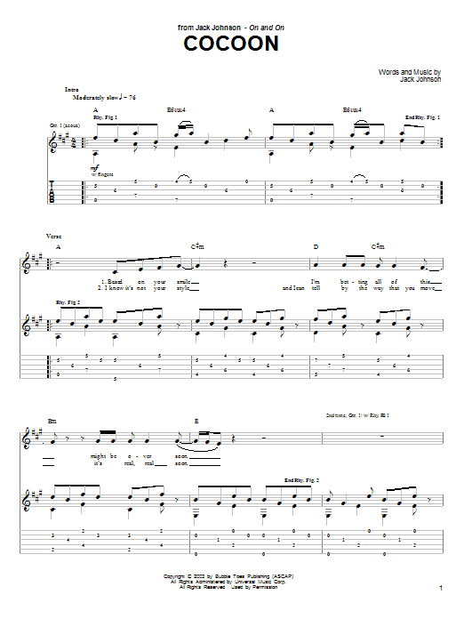 Cocoon Sheet Music