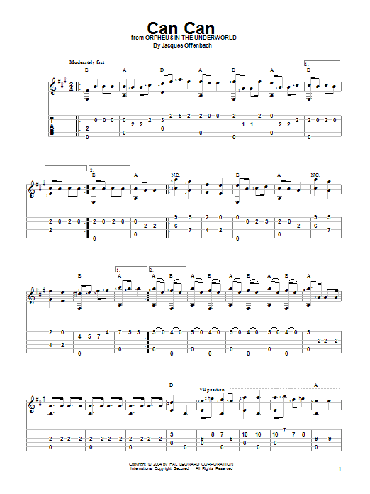 Can Can (Guitar Tab)
