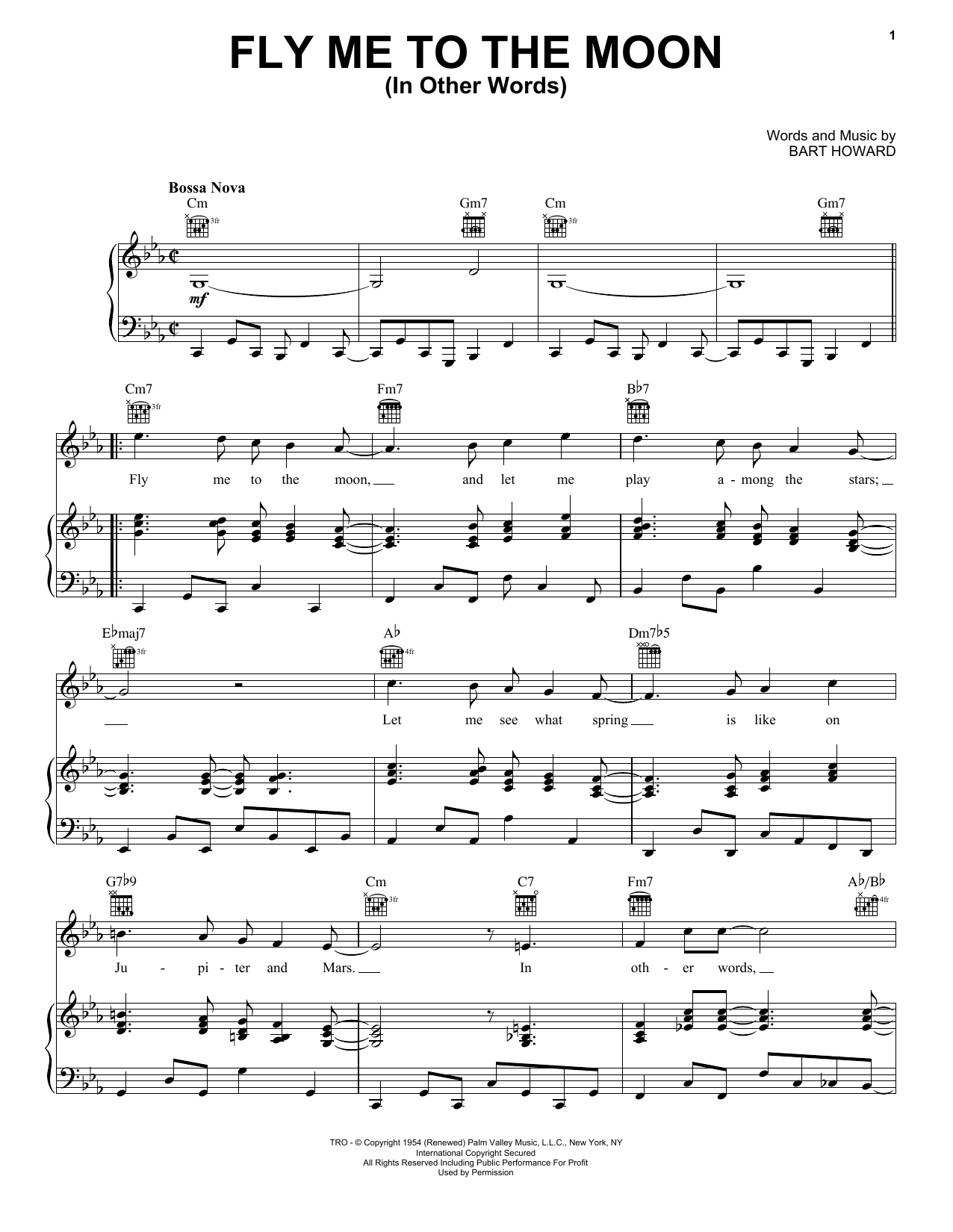 Fly Me To The Moon (In Other Words) Sheet Music