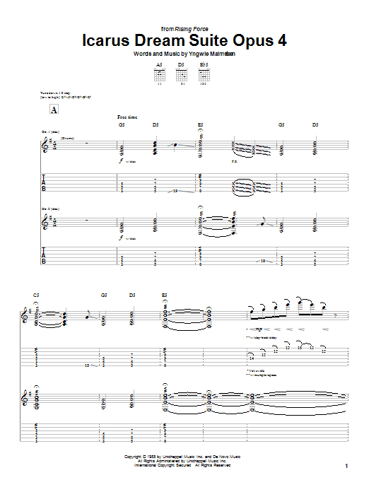 Icarus Dream Suite Opus 4 Sheet Music