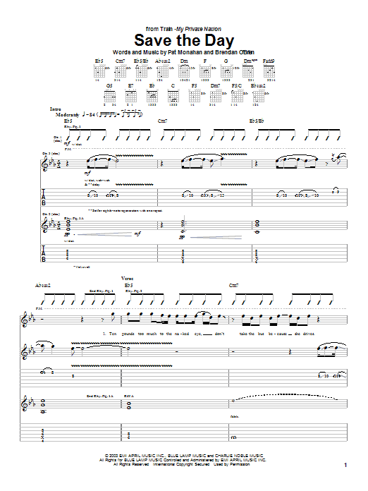 Save The Day Sheet Music