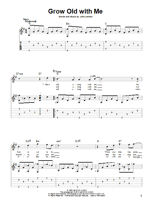 Grow Old With Me (Guitar Tab)