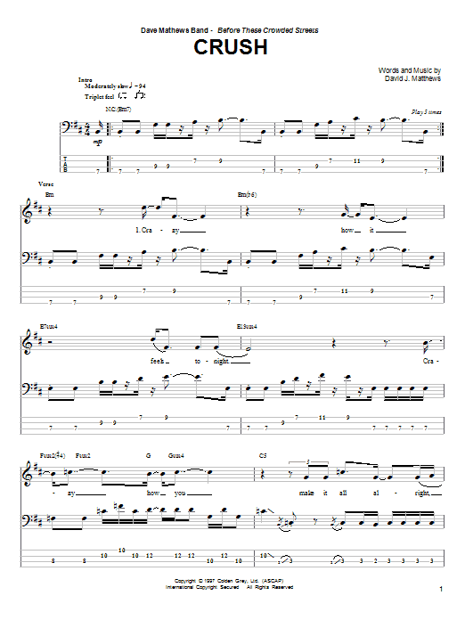 Crush Sheet Music
