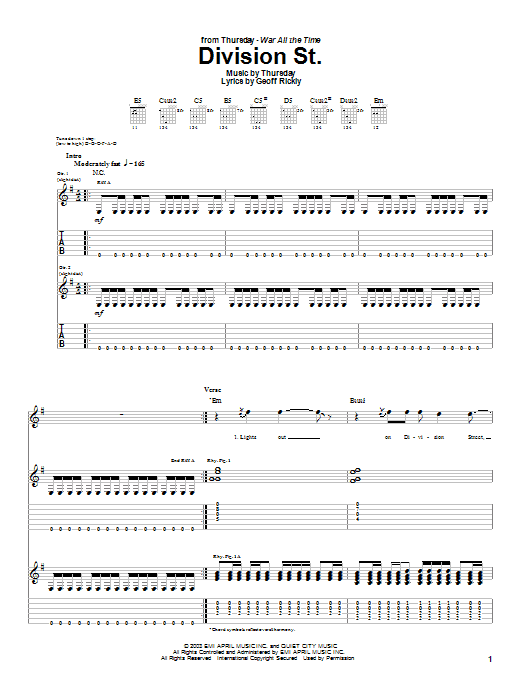 Division St. Sheet Music