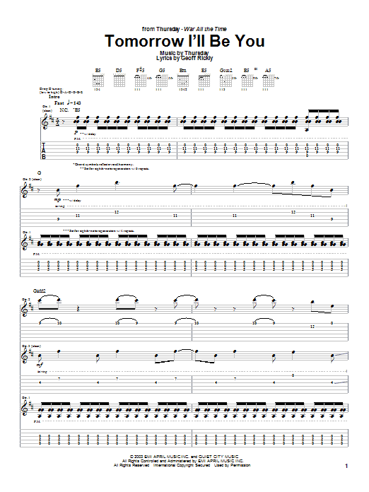 Tomorrow I'll Be You Sheet Music