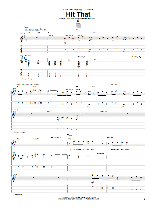 Hit That (Guitar Tab)