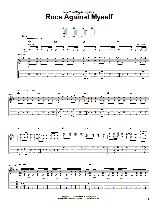Race Against Myself Sheet Music