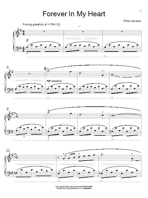 Partition piano Forever In My Heart de Phillip Keveren - Piano Facile