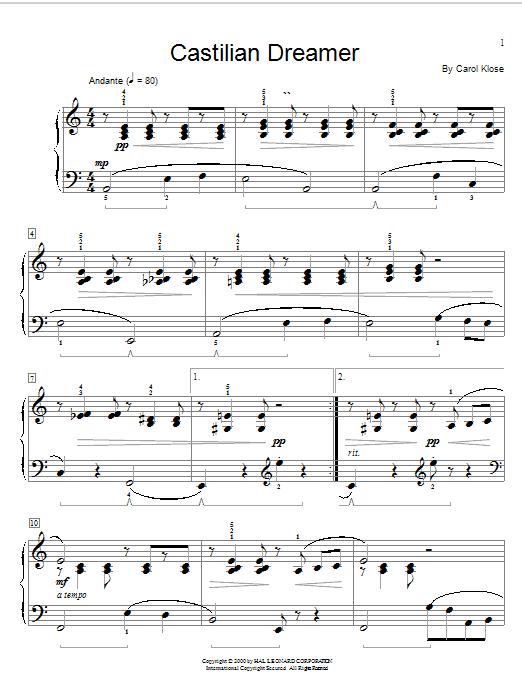 Castilian Dreamer Sheet Music