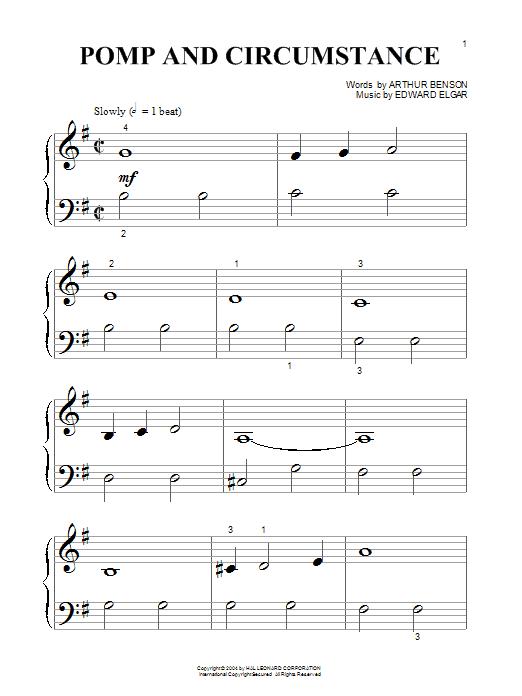 Partition piano Pomp And Circumstance March No.1 de Edward Elgar - Autre