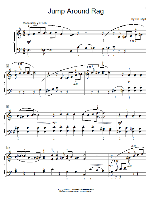 Jump Around Rag Sheet Music