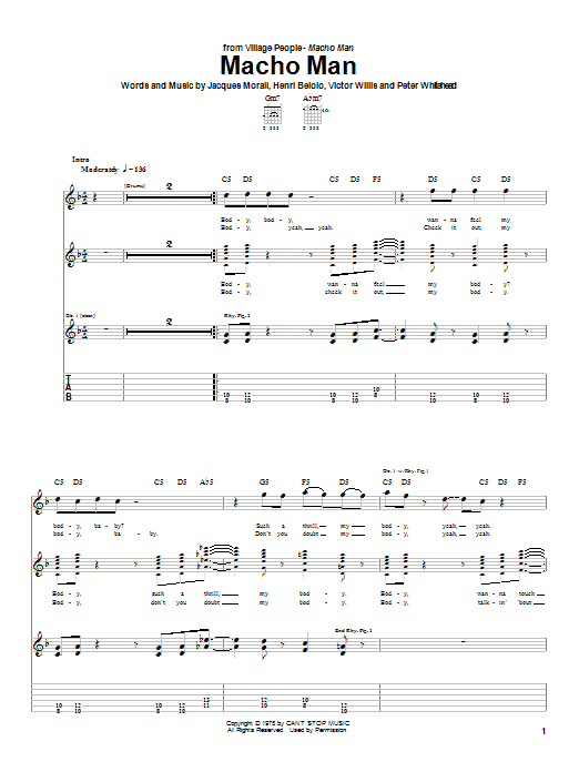 Macho Man (Guitar Tab)