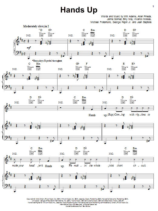 Hands Up Sheet Music