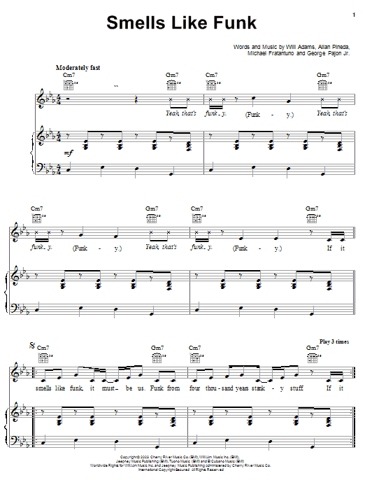 Smells Like Funk Sheet Music