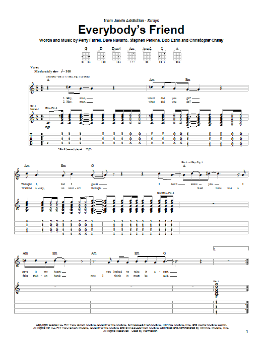 Everybody's Friend (Guitar Tab)