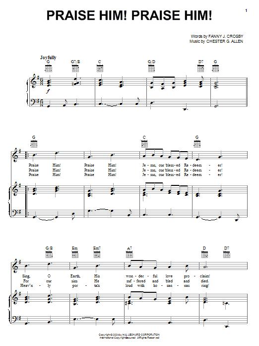 Praise Him! Praise Him! (Piano, Vocal & Guitar (Right-Hand Melody))