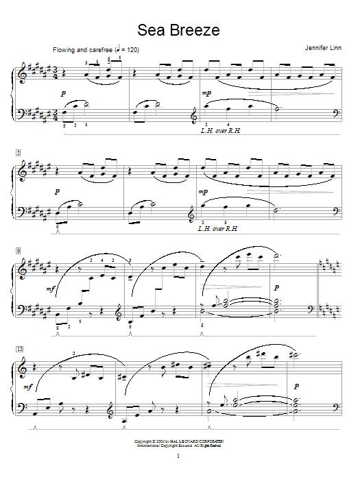 Partition piano Sea Breeze de Jennifer Linn - Autre