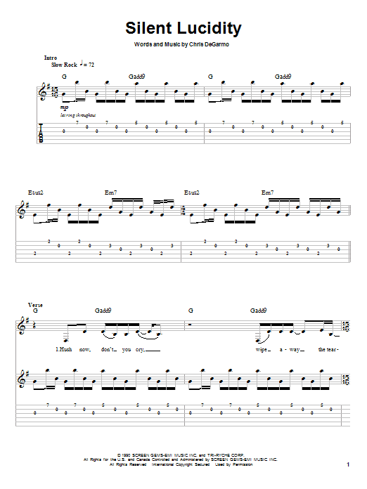 Silent Lucidity by Queensryche - Guitar Tab Play-Along - Guitar ...