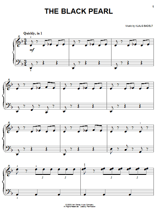 The Black Pearl Sheet Music