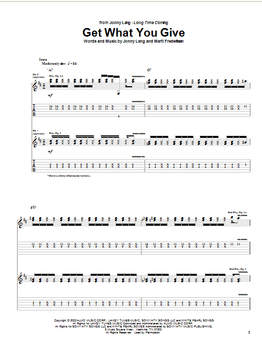 Get What You Give (Guitar Tab)