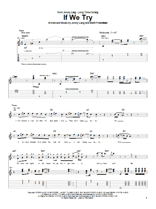 If We Try Sheet Music
