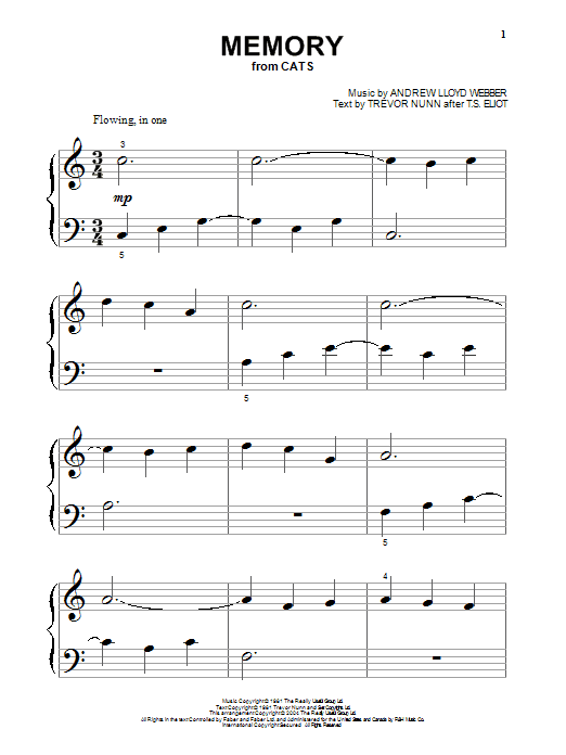Memory (Big Note Piano)