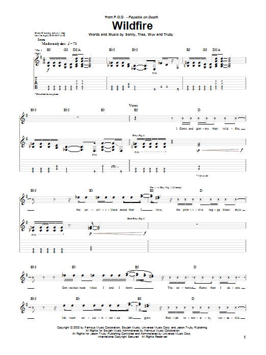 Wildfire Sheet Music