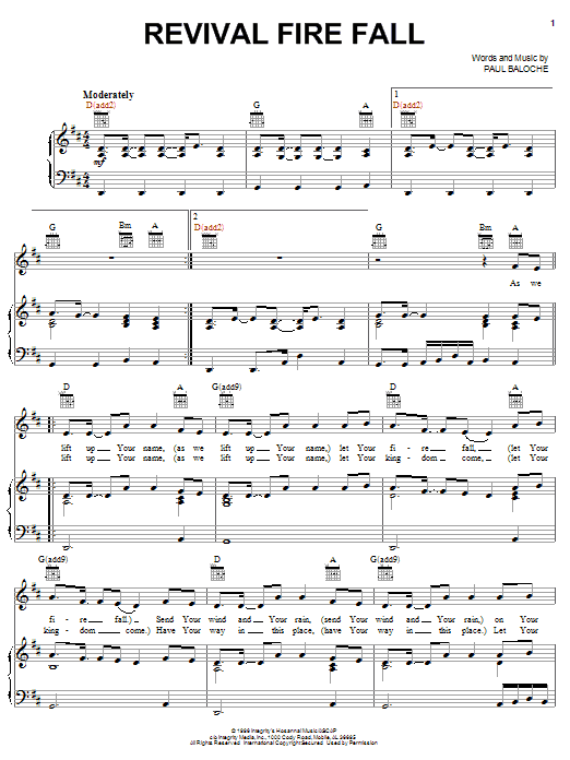 Revival Fire Fall (Piano, Vocal & Guitar (Right-Hand Melody))