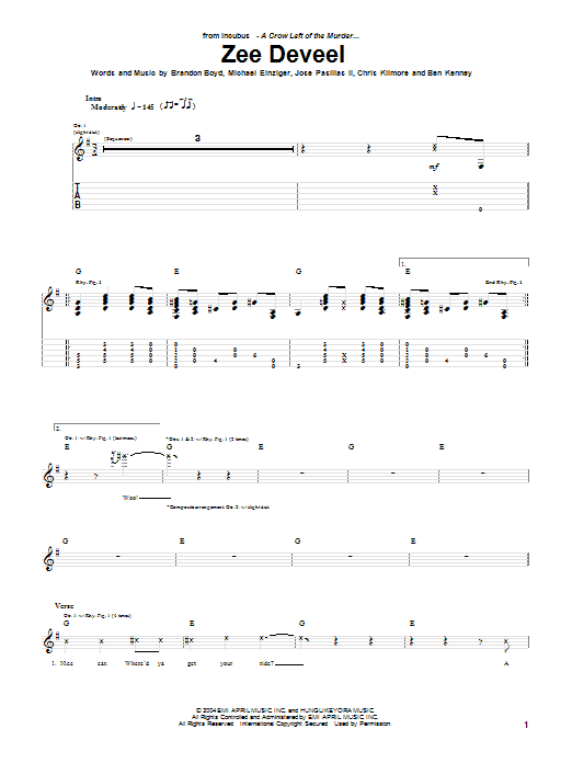 Zee Deveel (Guitar Tab)