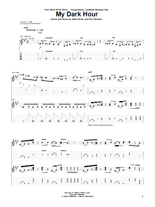 My Dark Hour (Guitar Tab)