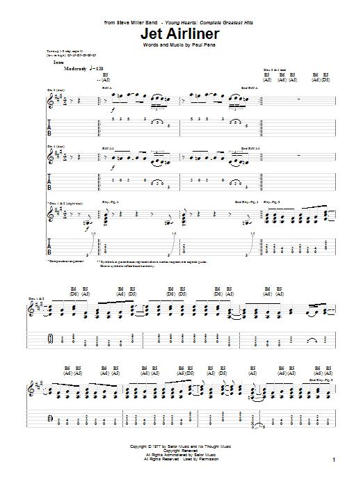 Jet Airliner Sheet Music