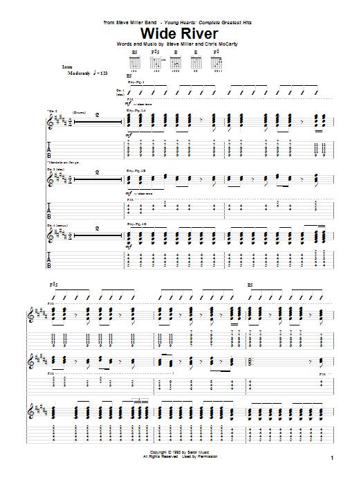Wide River Sheet Music