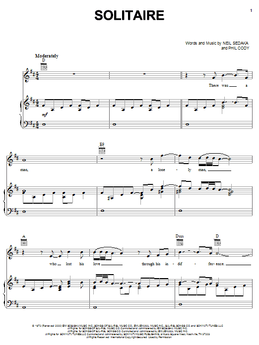 Solitaire Sheet Music