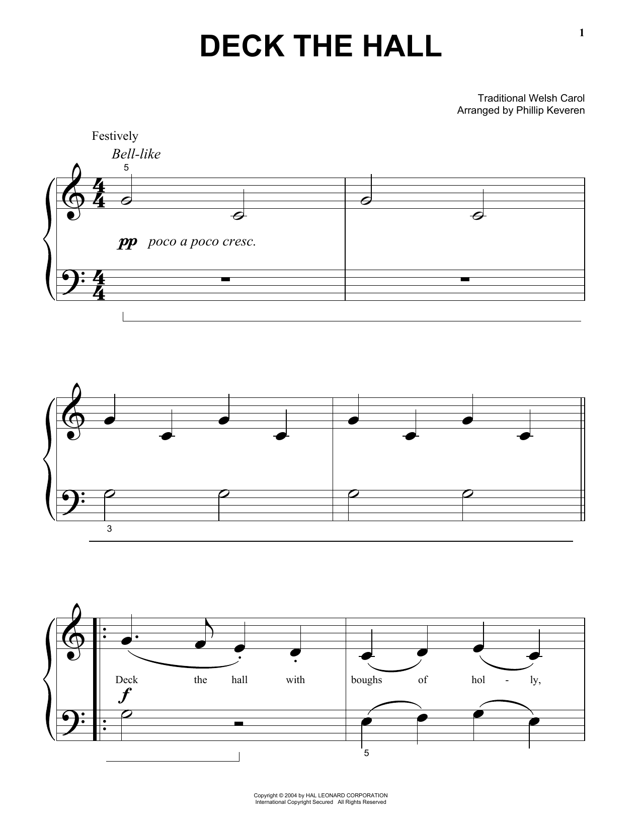 Deck The Hall Sheet Music