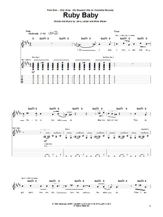 Ruby Baby (Guitar Tab)