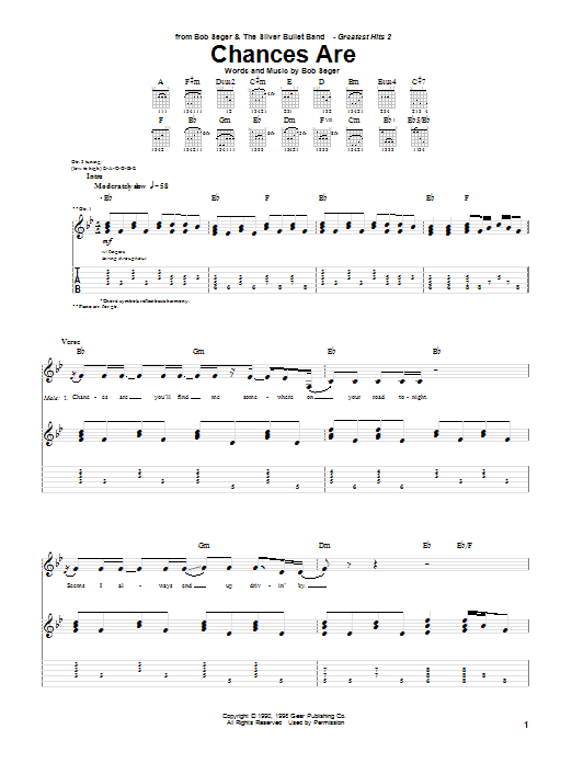 Chances Are (Guitar Tab)